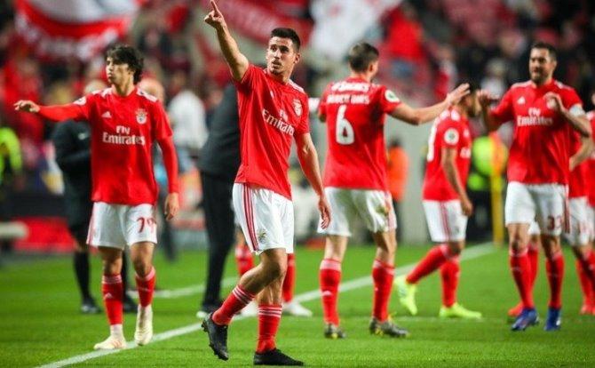 Benfica festejos de Gabriel