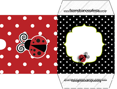 Ladybug Party Free Printable CD Case.