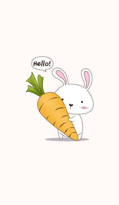 Cute white rabbit theme
