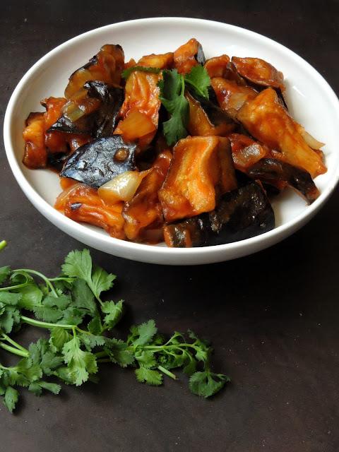 Eggplant Manchurian
