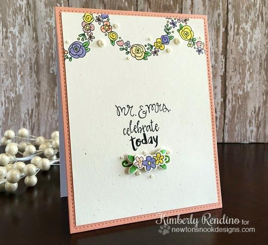 wedding card   handmade card   clear stamps   newton's nook designs   kimpletekreativity.blogspot.com