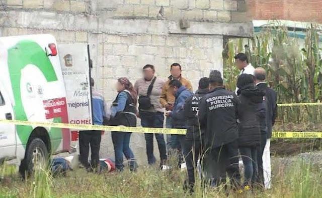 Camioneta y autoridad en Toluca