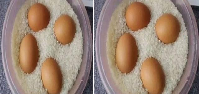 """Ibu Ini Menaruh """"Telur Mentah"""" Ke dalam Beras, Ternyata """"Hasilnya"""" Membuat Semua Orang Melongo!! Gak Nyangka Fungsinya """"Seajaib"""" Ini!!"""