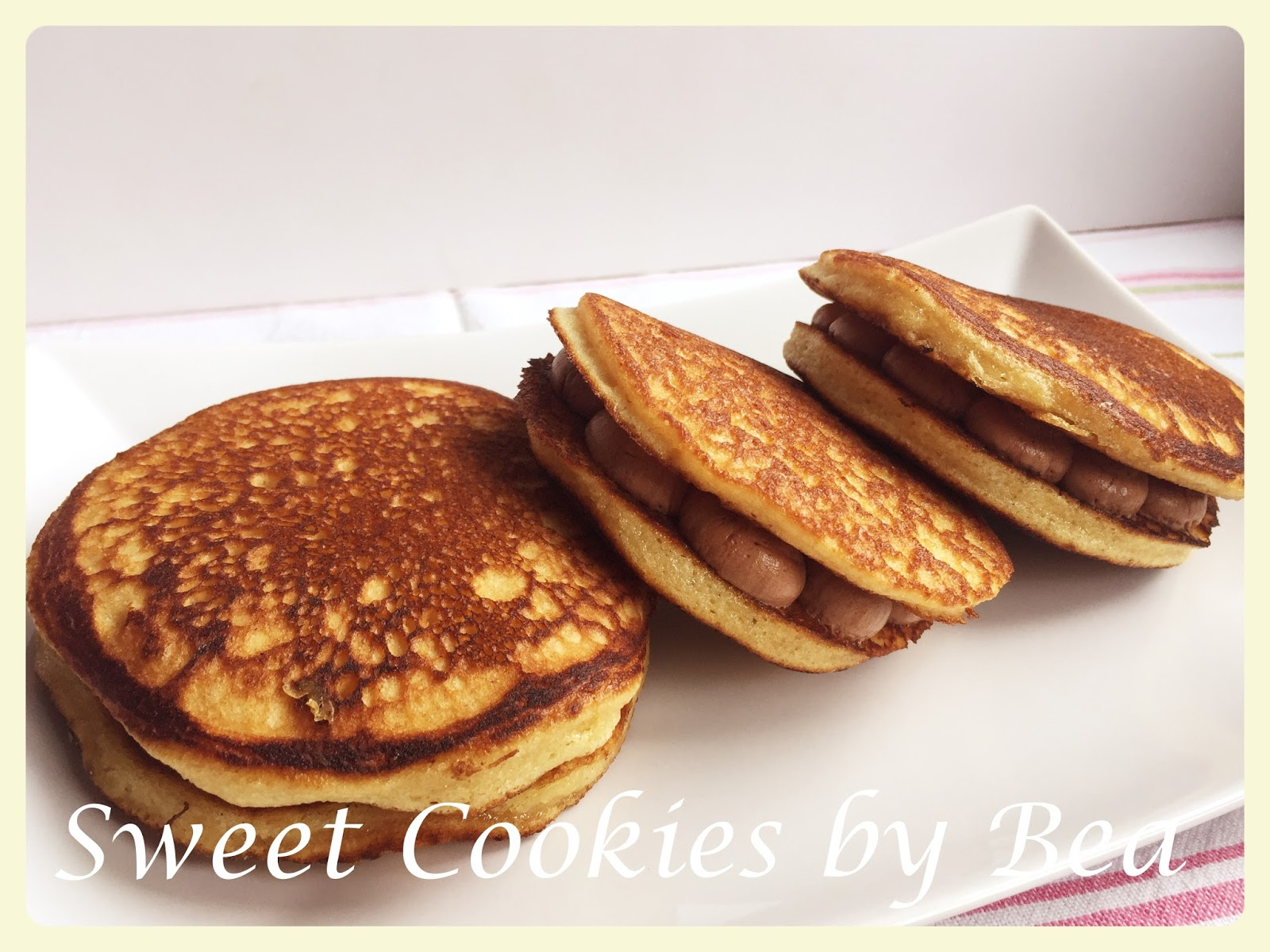 Sweet Cookies by Bea: Dorayaki (どら焼き) relleno de chocolate