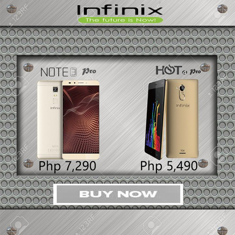 Infinix Hot 4 Pro And Note 3 Pro Price Cut Announced, Now At PHP 5490 And PHP 7290 Respectively!