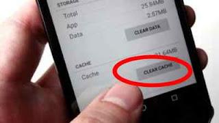 hapus cache aplikasi