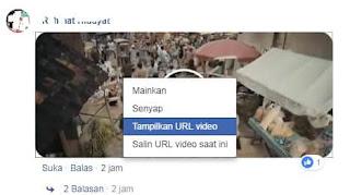 cara menyimpan komentar video facebook