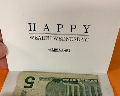 Happy Wealth Wednesday!