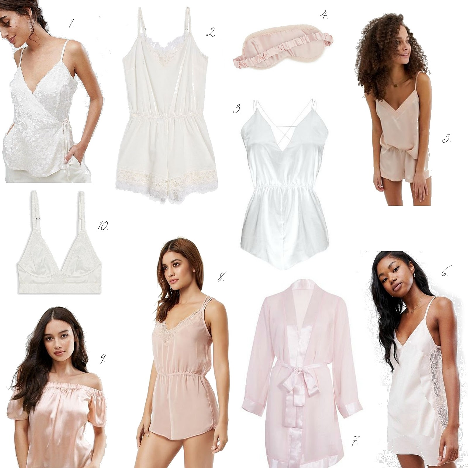 Marie Antoinette inspired silky, satin pyjamas and nightwear wishlist