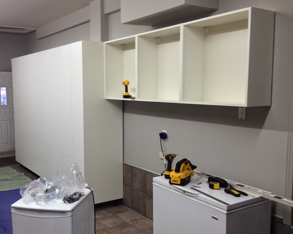 Ikea Kitchen Upper Cabinets Restaurant Design The Fix It Blog Sorting Things Out Garage Organization