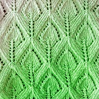 How To Knit Spade Lace Pattern. The pretty lace pattern looks like a leaf if you look at it one way.