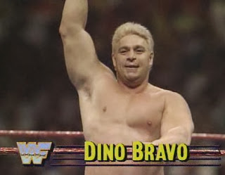 WWF / WWE - Wrestlemania 6: Dino Bravo battled Jim Duggan in a terrible match