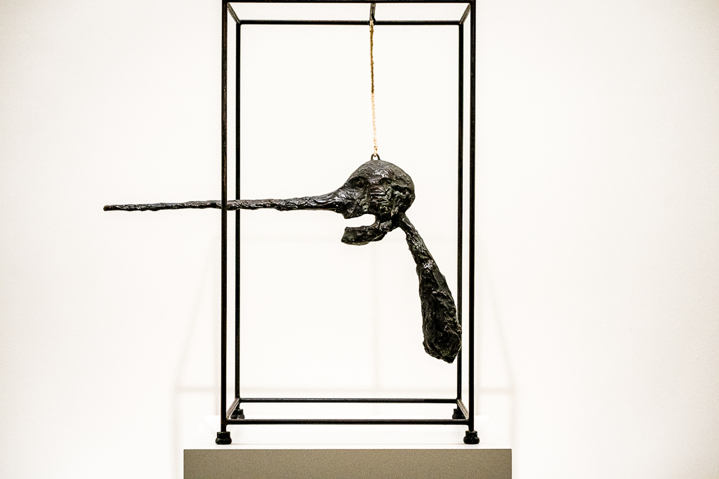 a photo of The Nose Le Nez sculpture by Alberto Giacometti
