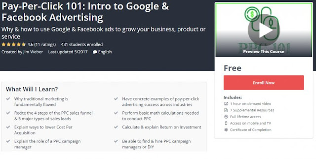 [100% Free] Pay-Per-Click 101: Intro to Google & Facebook Advertising