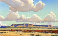 "Maynard Dixon, ""Wide Lands of the Navajo,"" 1945; Denver Art Museum."