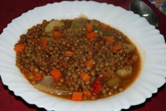 Dieta disociada lentejas con arroz