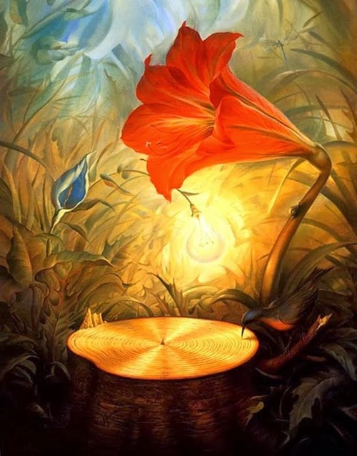 11-Music-of-the-Woods-Vladimir-Kush-Surreal-Lands-Paintings-www-designstack-co
