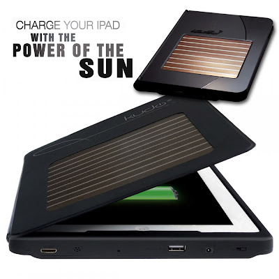 Solar powered charging iPad case