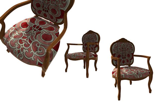poltrona classica, disegni per tessuti, Mirna Radovanovic