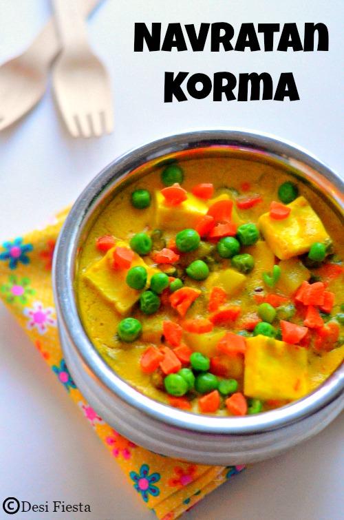 Desi Fiesta : Navratan Korma Recipe |Vegetable Korma ...