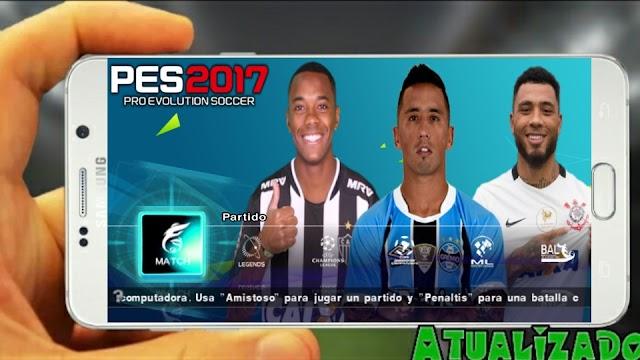 NOVO!! PES 2017 ATUALIZADO PARA PPSSPP ANDROID