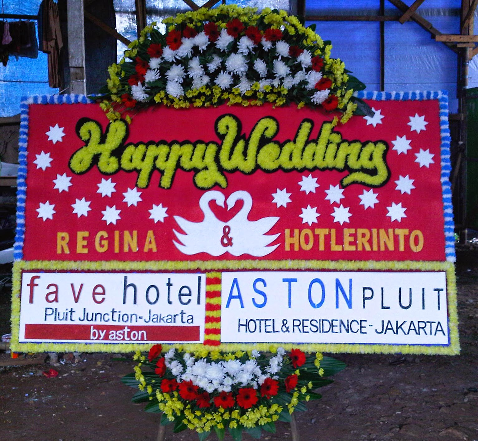 Bunga Papan Pernikahan Bogor