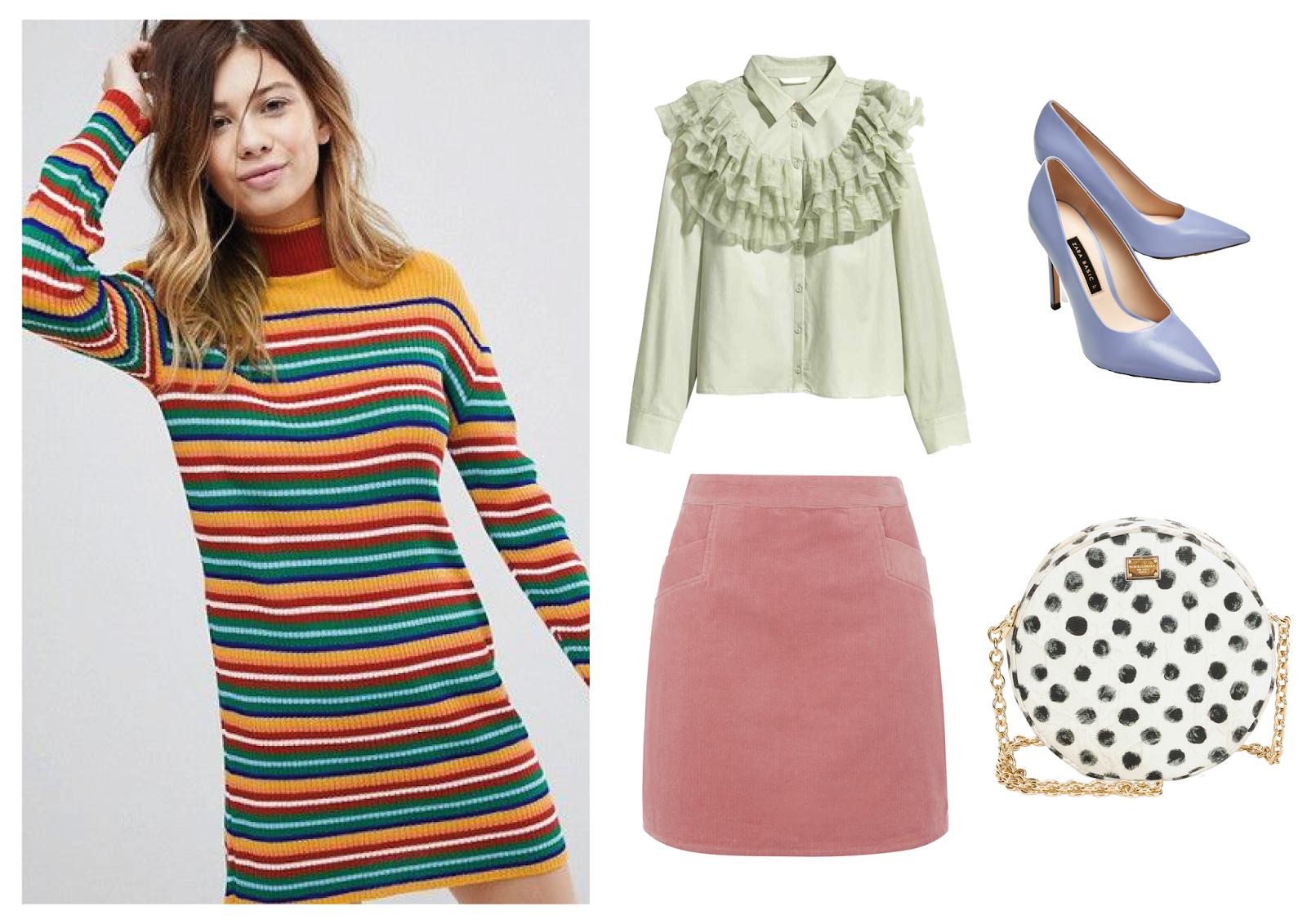 fc605a7b15 Dress: ASOS | Blouse: H&M | Skirt: Topshop | Heels: Zara | Bag: Dolce &  Gabbana