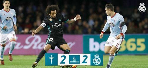 Real Madrid Diimbangi Celta Vigo 2-2