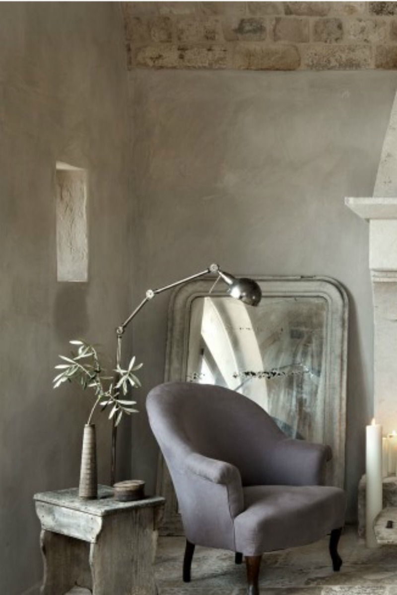 Rustic elegance in an Italian Farmhouse living room - found on Hello Lovely Studio