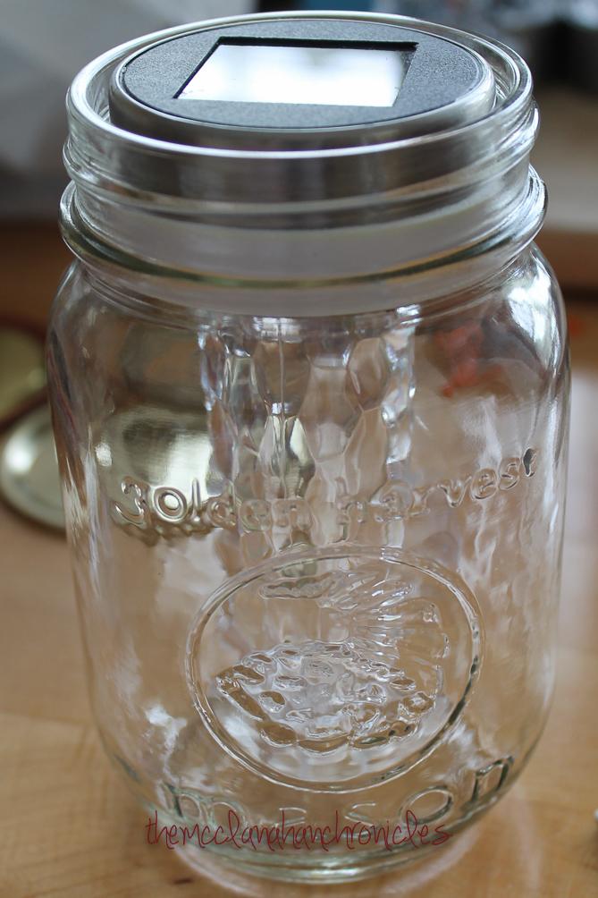 DIY Solar Mason Jar Lantern | The McClanahan Chronicles