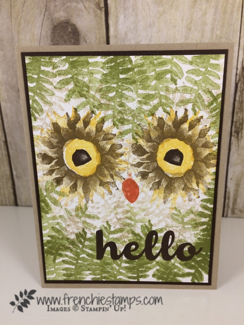 Painted Harvest, Owl, Stampin'Up!, Hello Friends,