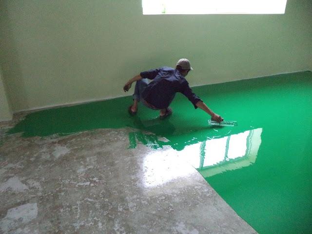 Các sự cố thường gặp khi thi công sơn epoxy