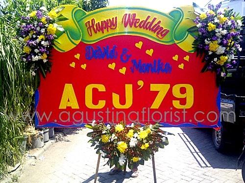 bunga-papan-ucapan-pernikahan-toko-bunga-surabaya