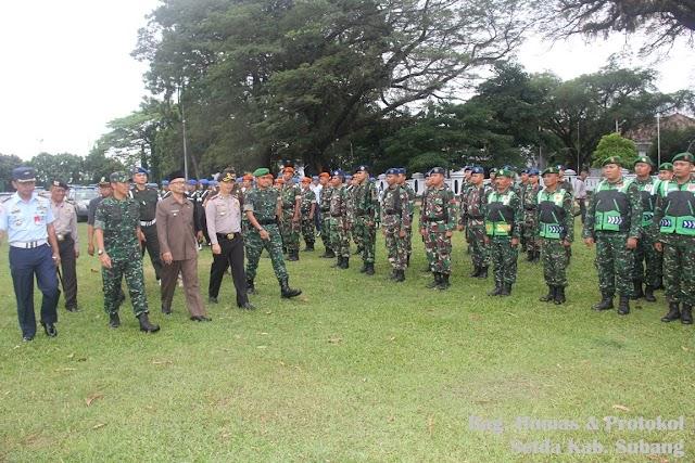 Sambut Pilkada serentak tahun 2018, Subang Gelar Pasukan Pengamanan TPS