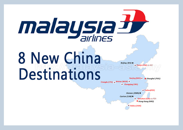 China Destinations with Malaysia Airlines