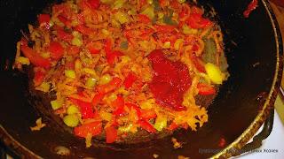 добавили перец и томат