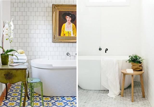 baldosa hidráulica para baño