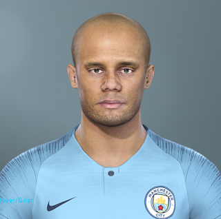 PES 2019 Faces Vincent Kompany by Hugimen