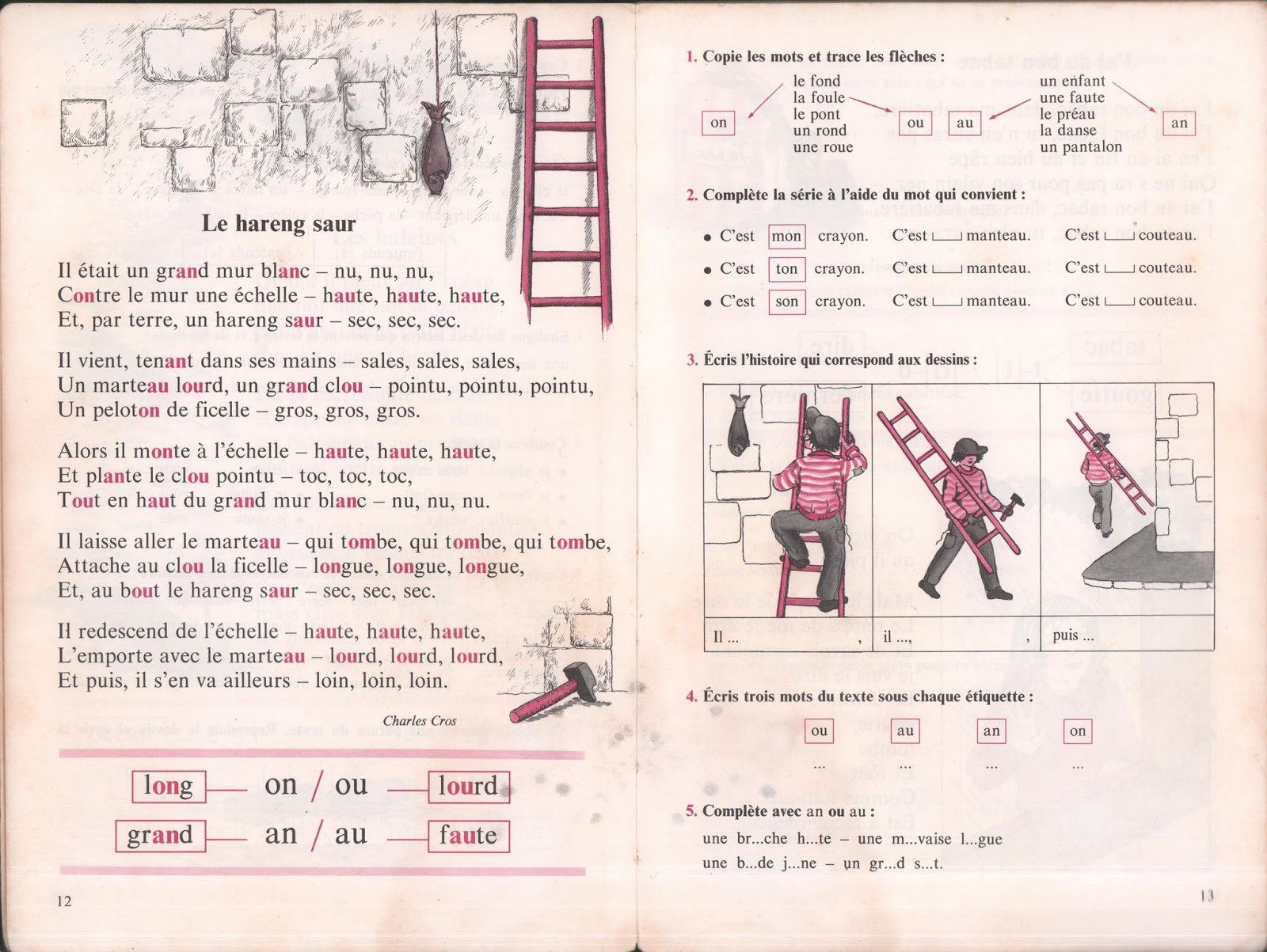 Manuels Anciens Houdart Mon Livre De Francais Cp Ce1 1984