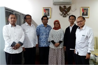 Audiensi dengan Kepala Balai Penelitian dan Pengembangan Agama Jakarta