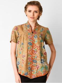 baju batik atas bawah wanita modern