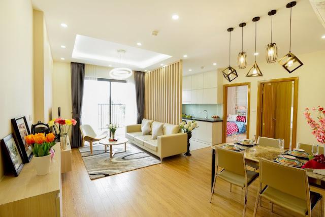 Toàn cảnh căn hộ 3 phòng ngủ diện tích 83m2 tại dự án The K - Park