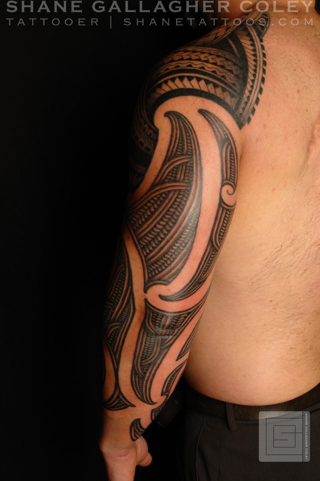 Maori Half Sleeve Tattoo: MAORI POLYNESIAN TATTOO: Half Maori Half Polynesian Sleeve