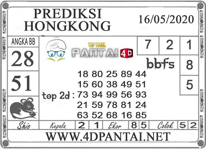 PREDIKSI TOGEL HONGKONG PANTAI4D 16 MEI 2020