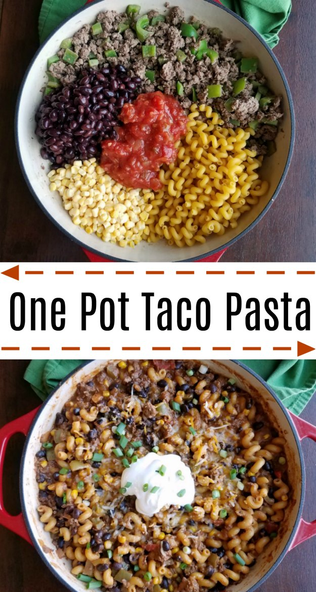 Cooking with carlee one pot taco pasta created using the recipes generator forumfinder Images