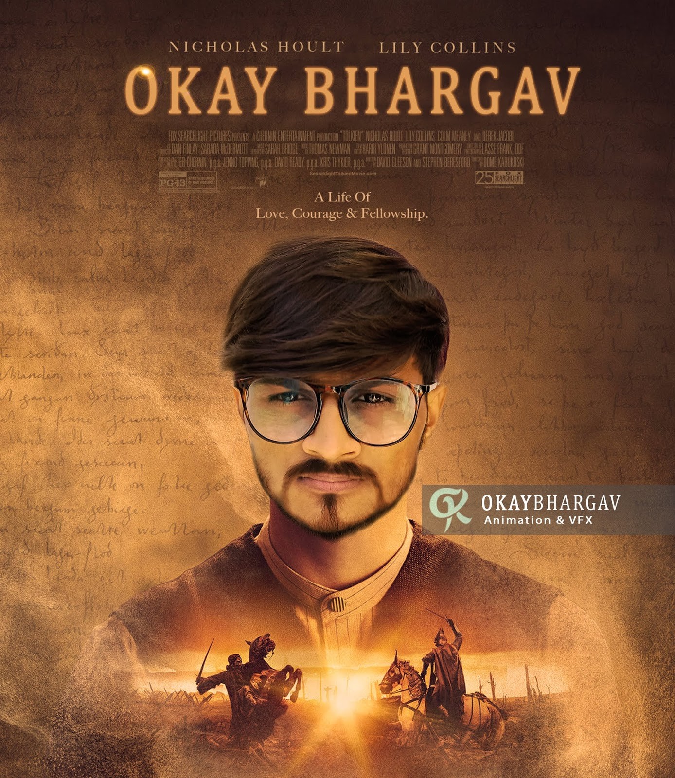 Movie Poster psd file,okaybhargav, okay bhargav