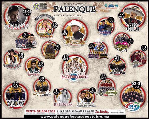 palenque fiestas de octubre 2016