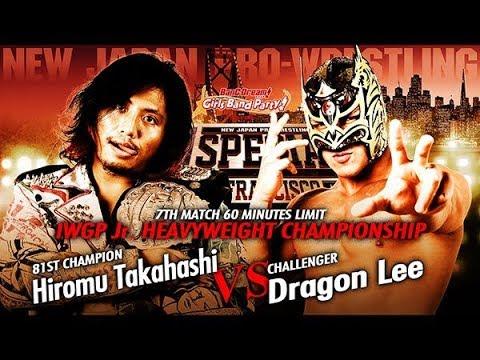 Historia del Wrestling: Hiromu Takahashi vs Dragon Lee, NJPW