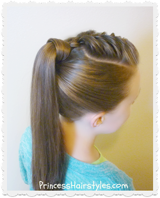 The best hair wrapped ponytail, video tutorial