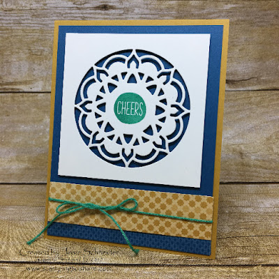 Stampin' Up! Eastern Medallion Thinlits with sentiment from Oh Happy Day Card Kit created by Josie Schneider.